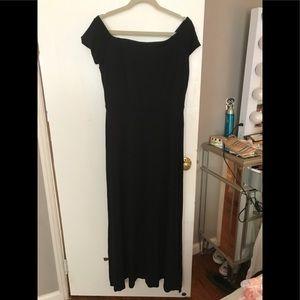 NWT Ann Taylor Loft Black Knit maxi  dress